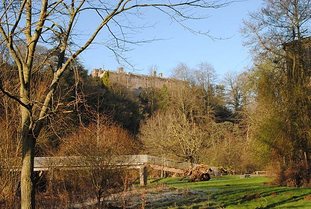 Glimpse of Appleby Castle at Bongate