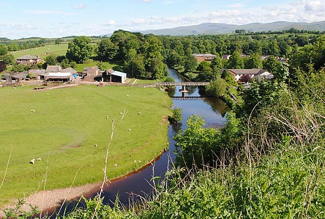 Looking down on the River Eden at Appleby
