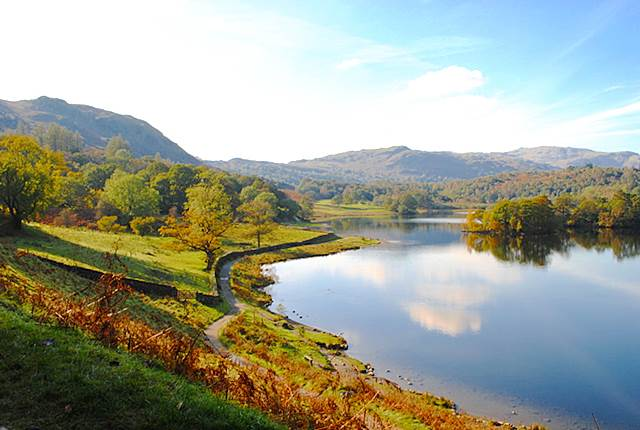Rydal Water on an Autumn Afternoon - Lake District Westmorland