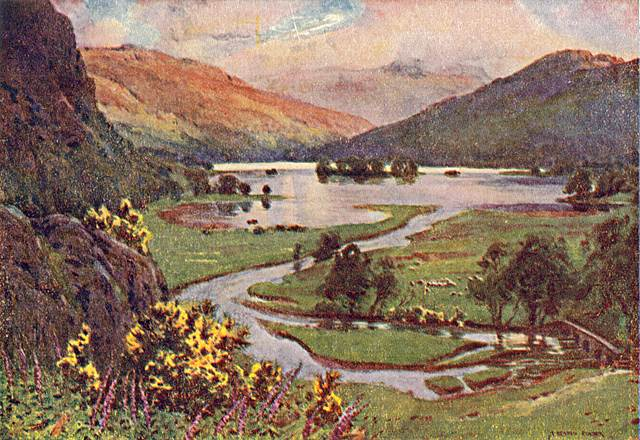 Sunset, Rydal Water by A Heaton Cooper